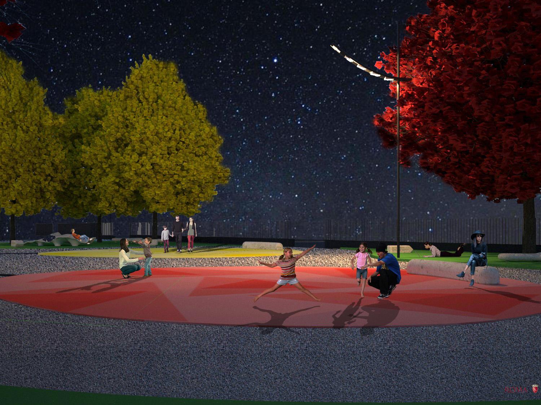 Night view of the red balloon Roma Capitale - Tommaso Di Pierro