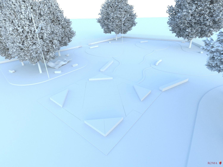 Virtual model, view n° 7 - The square game box Roma Capitale - Tommaso Di Pierro