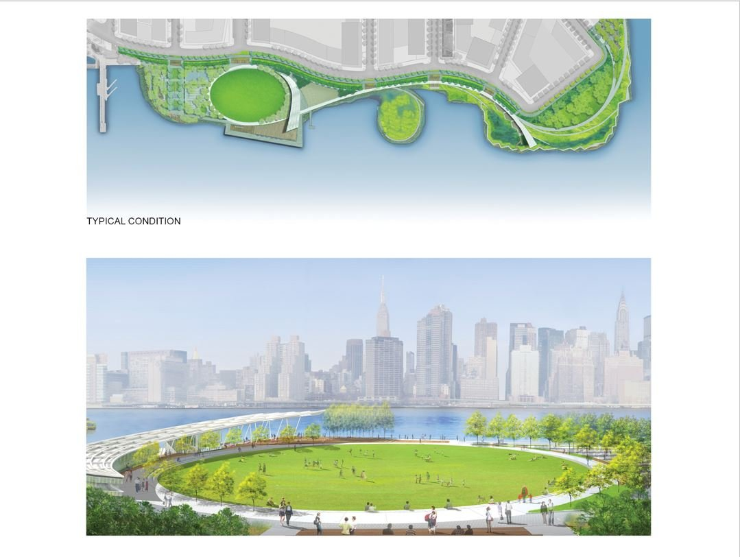 TYPICAL SITE WITH RECREATION OVAL RENDERING Courtesy of SWA/Balsley and WEISS/MANFREDI}