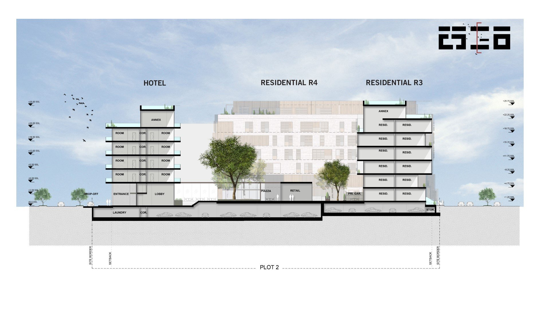 Section AA Avcı Architects}