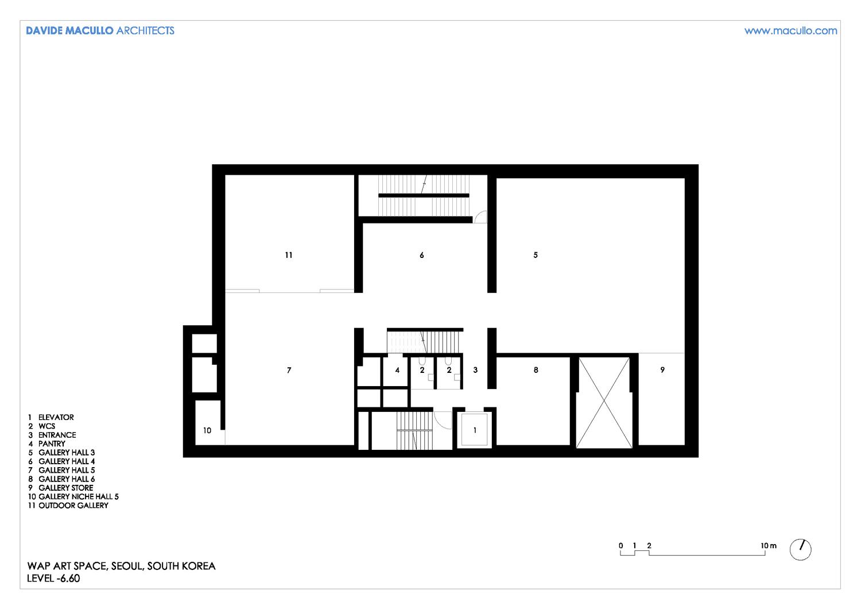 Plan level -1 Davide Macullo Architects SA}