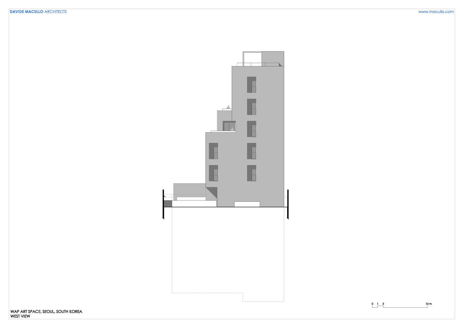 West elevation Davide Macullo Architects SA}