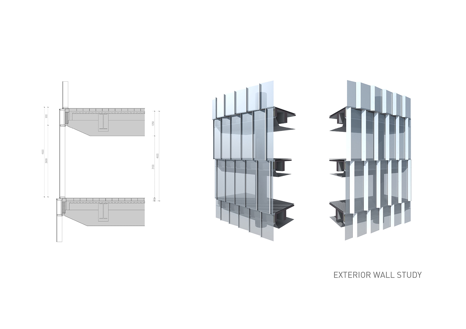 Exterior wall study EID Architecture}