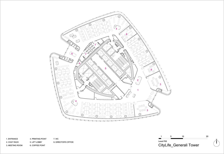 Level 5 Plan Zaha Hadid Architects}