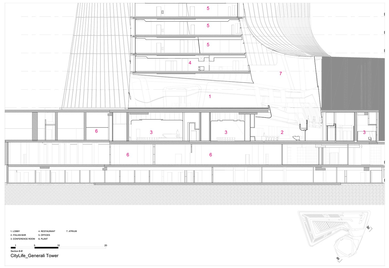 Section B Zaha Hadid Architects}