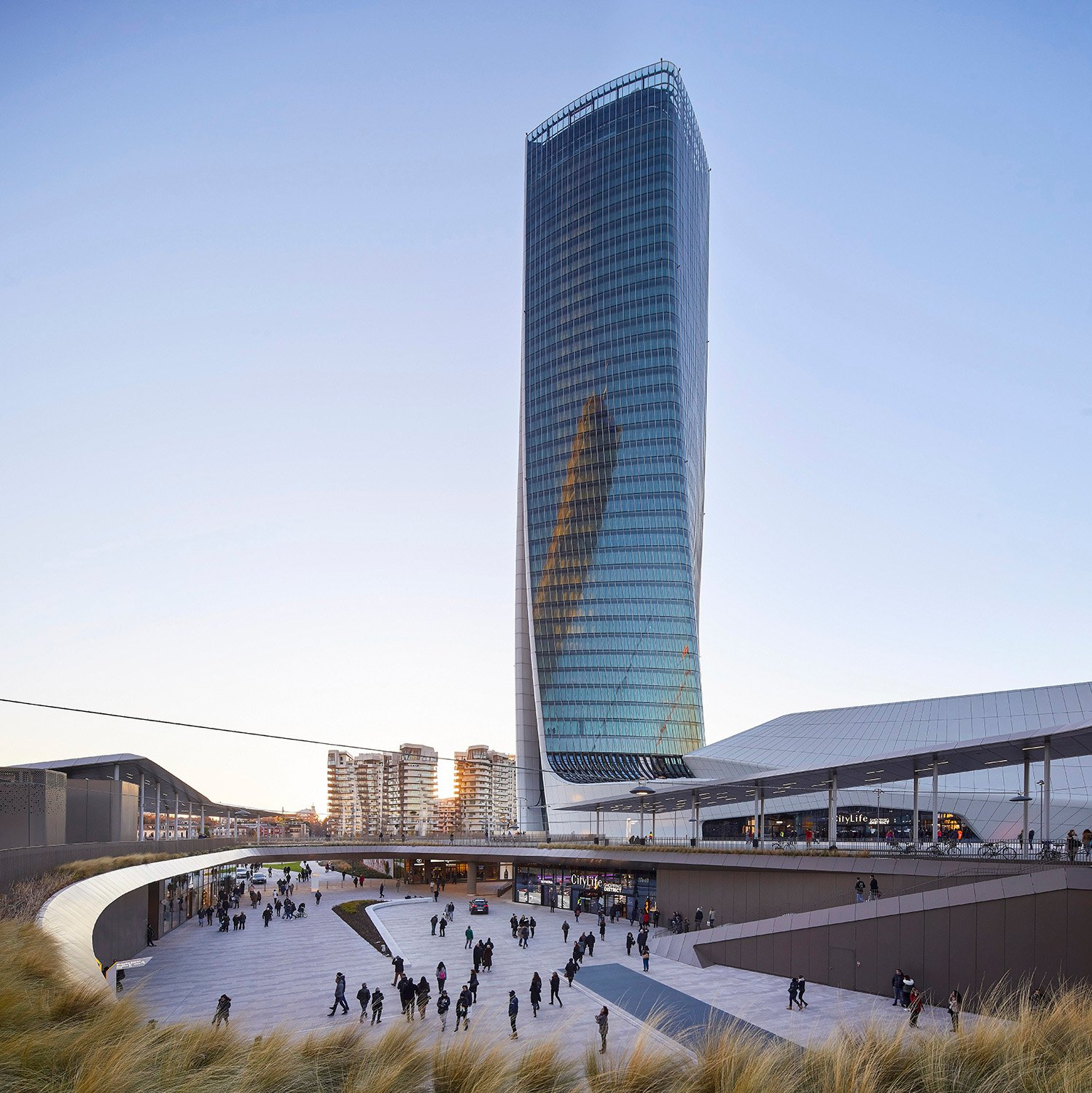 Generali Tower is within the CityLife masterplan Photograph by Hufton + Crow