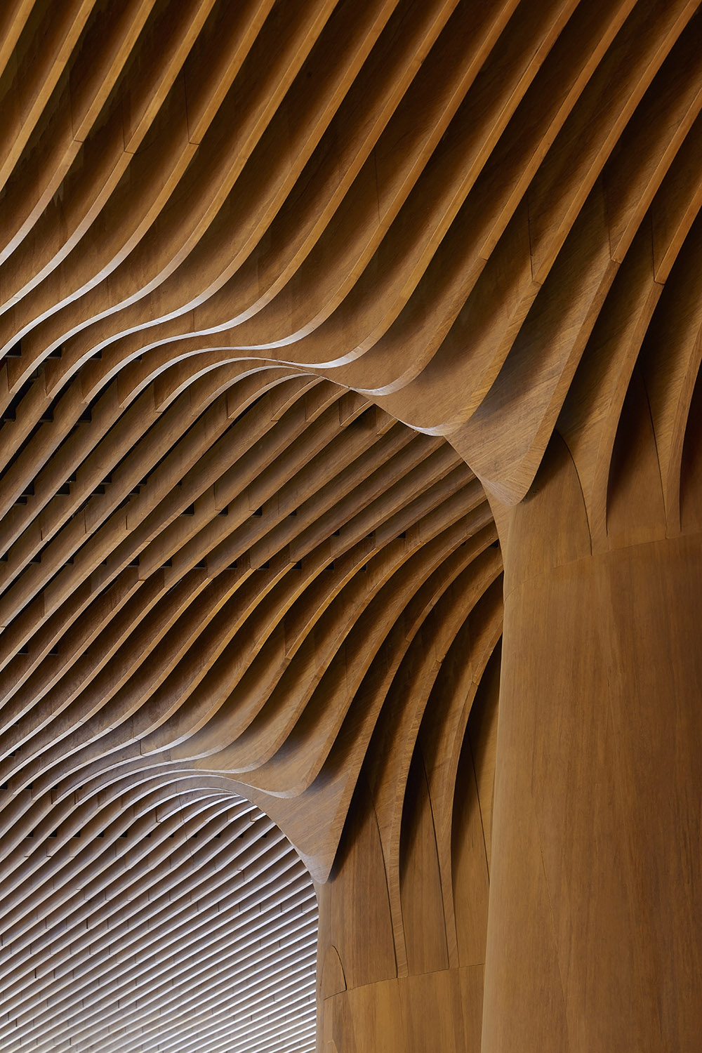 Interior detail of retail space within the Generali Tower podium Photograph by Hufton + Crow