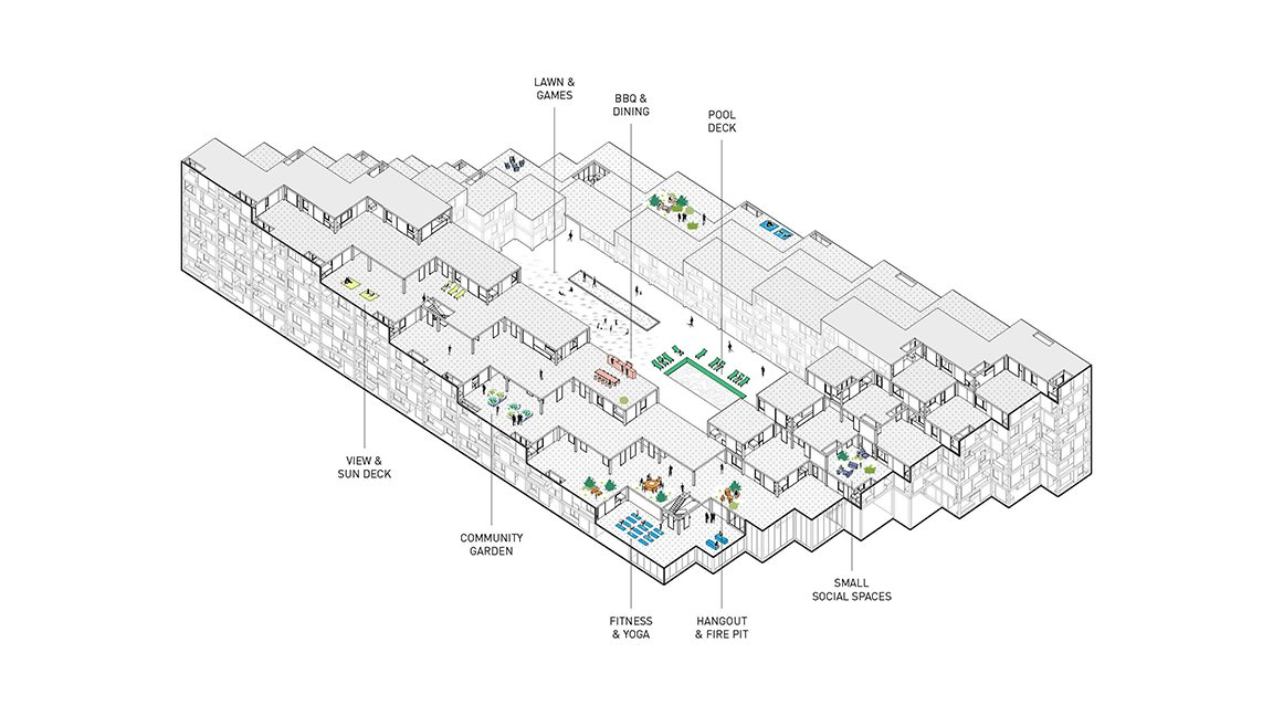 Axonometric Diagram Lorcan O'Herlihy Architects [LOHA]