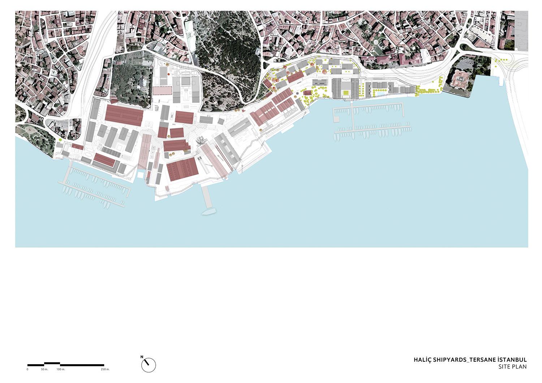 TERSANE ISTANBUL- HALIC SHIPYARDS - SITE PLAN TABANLIOGLU ARCHITECTS}