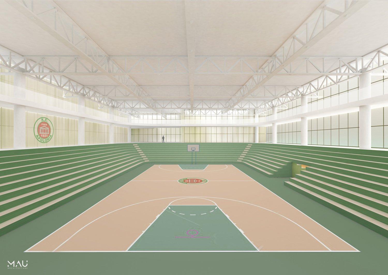 Conceptual interior Sport palace MAU Architecture}