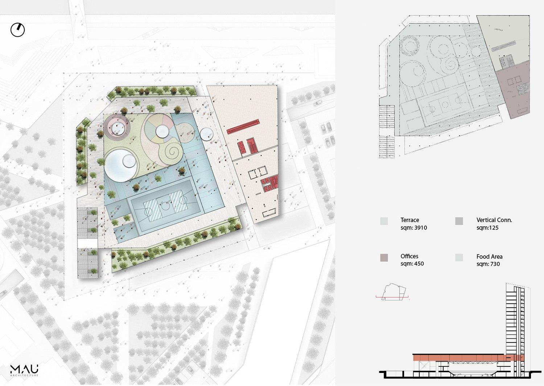 Terrace level MAU Architecture}