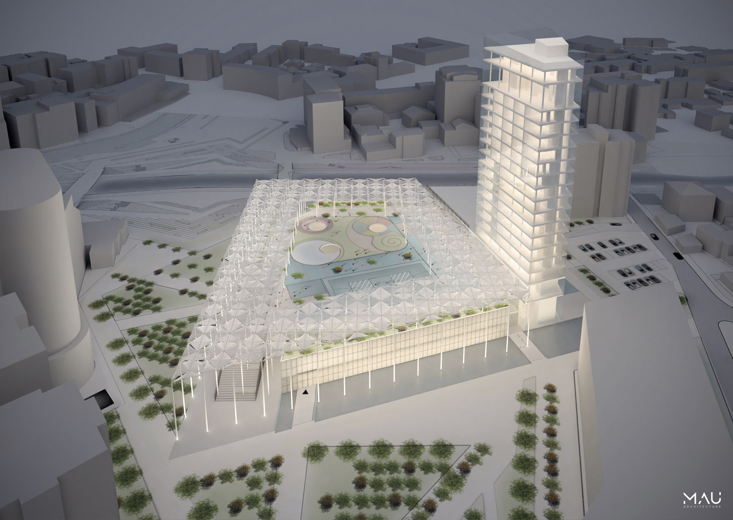 Aerial conceptual view MAU Architecture