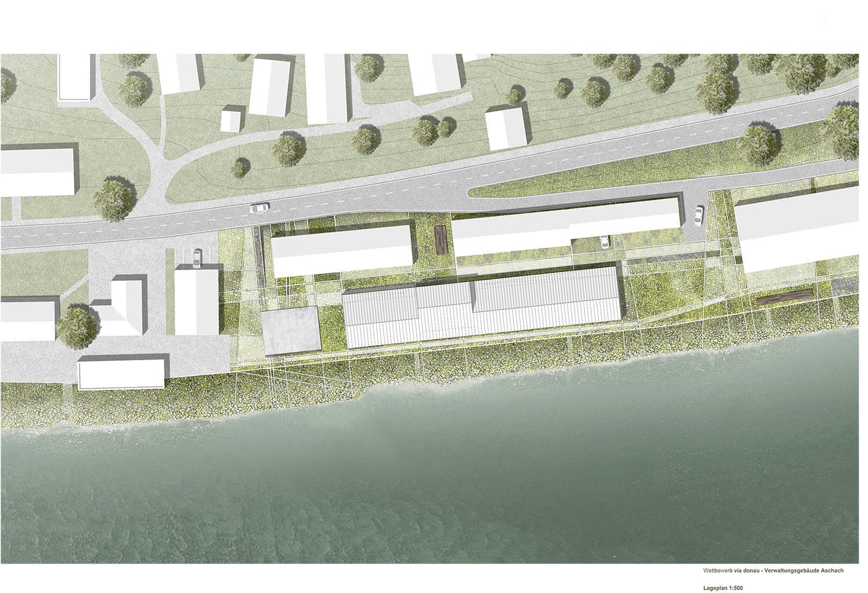 Via Donau administration - site plan Dietrich | Untertrifaller}