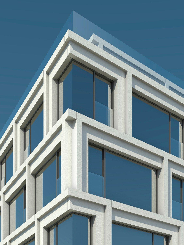 Visualized detail of the corner TCHOBAN VOSS Architekten}
