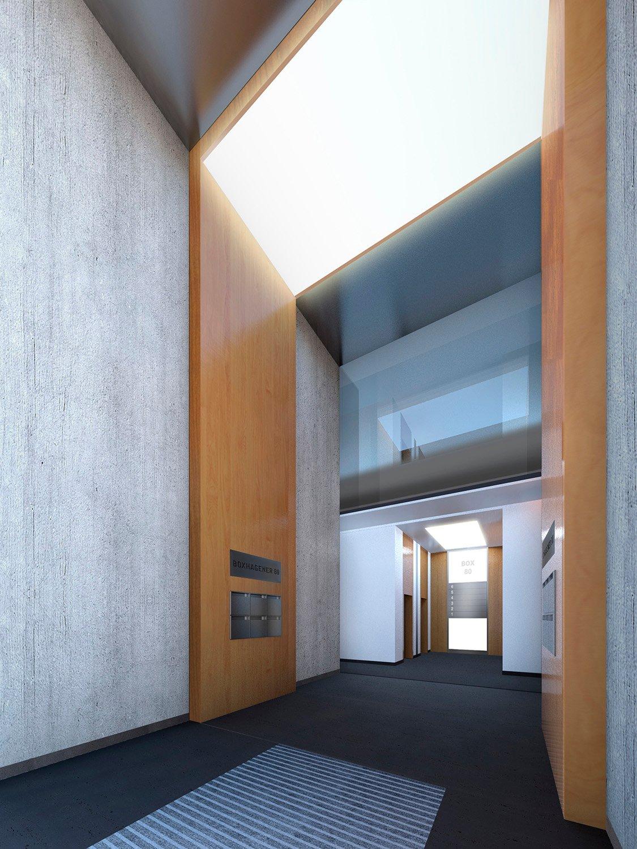 Visualized entrance area TCHOBAN VOSS Architekten}