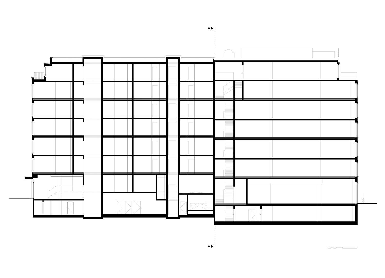 Section AA TCHOBAN VOSS Architekten}