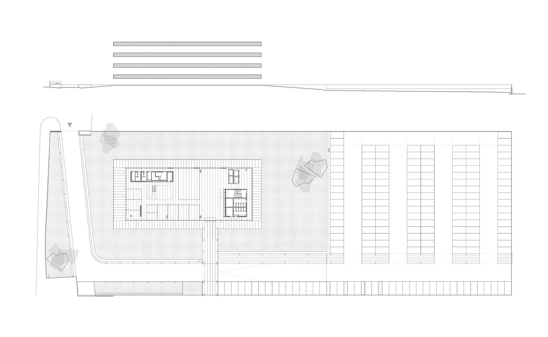 Site plan and elevation Ruiz Pardo - Nebreda}