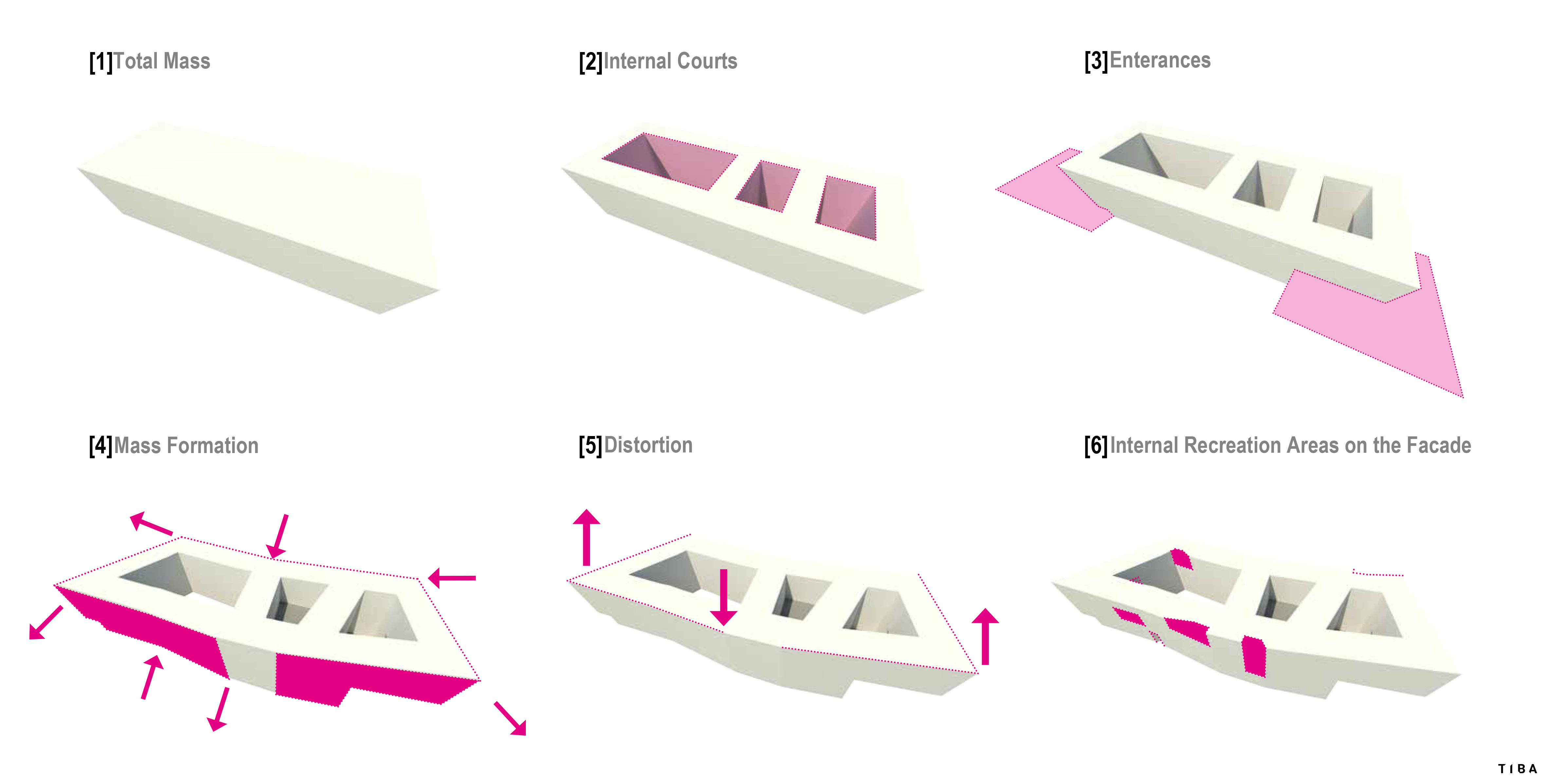 Diagram-Shaping the building TIBA Architects Studio kft}