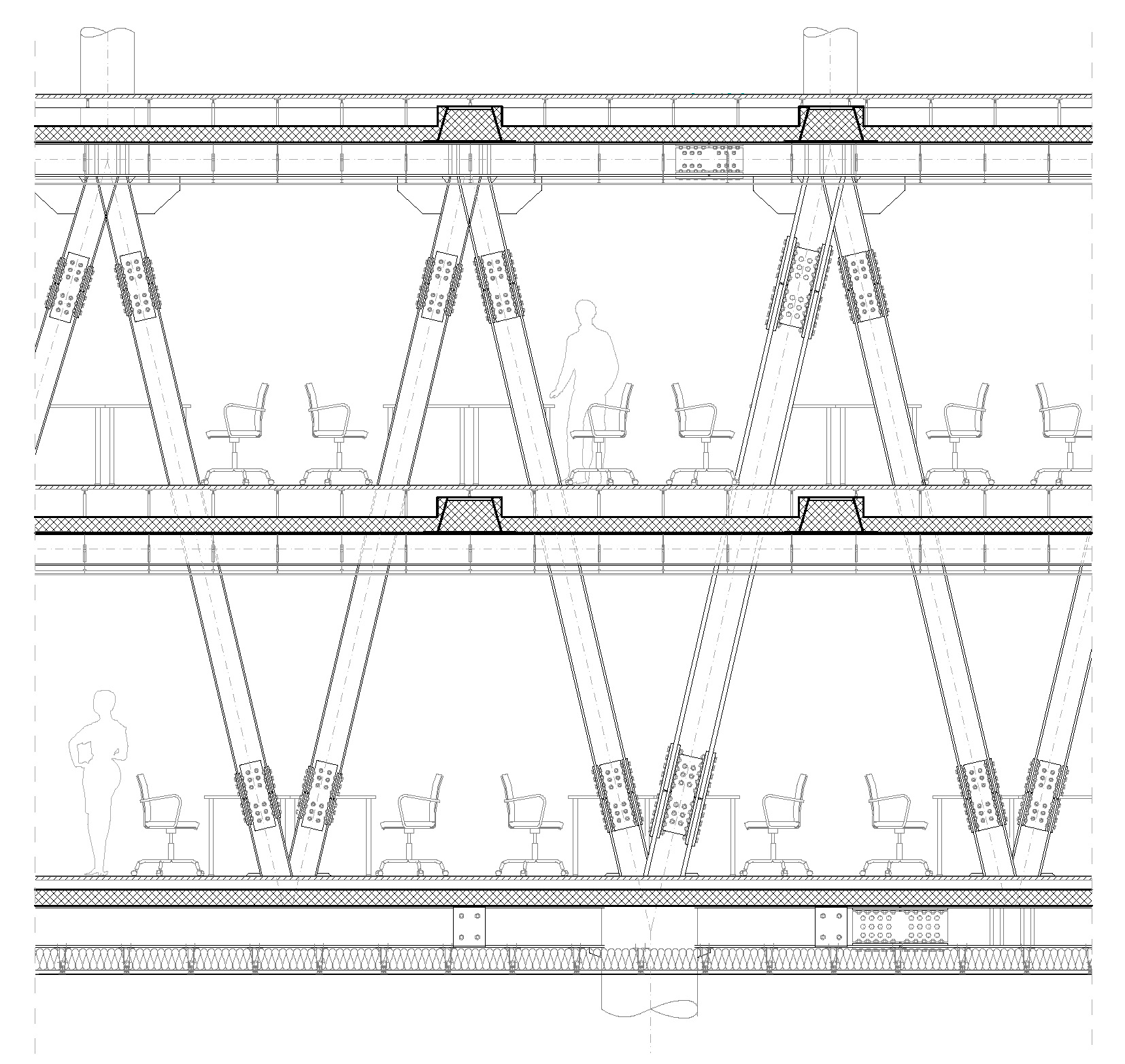 Bridge Steel Structure Detail TIBA Architects Studio kft}