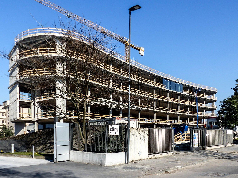 Cantiere in corso facciata edificio A Daniele Nicoletti