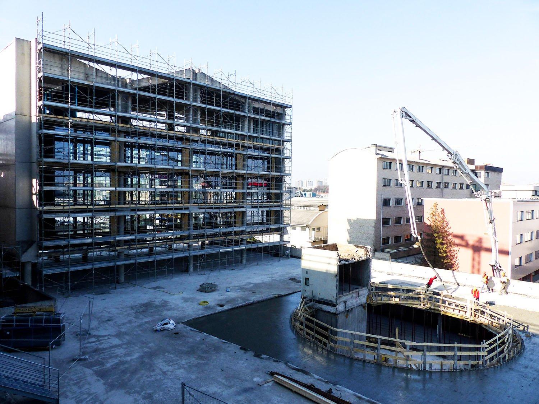 Cantiere in corso facciata edificio B Daniele Nicoletti