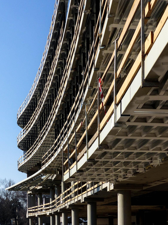 Cantiere in corso dettaglio di facciata Daniele Nicoletti