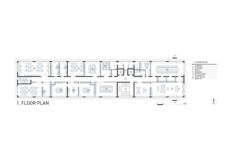 1 floor plan Rechner Architects}