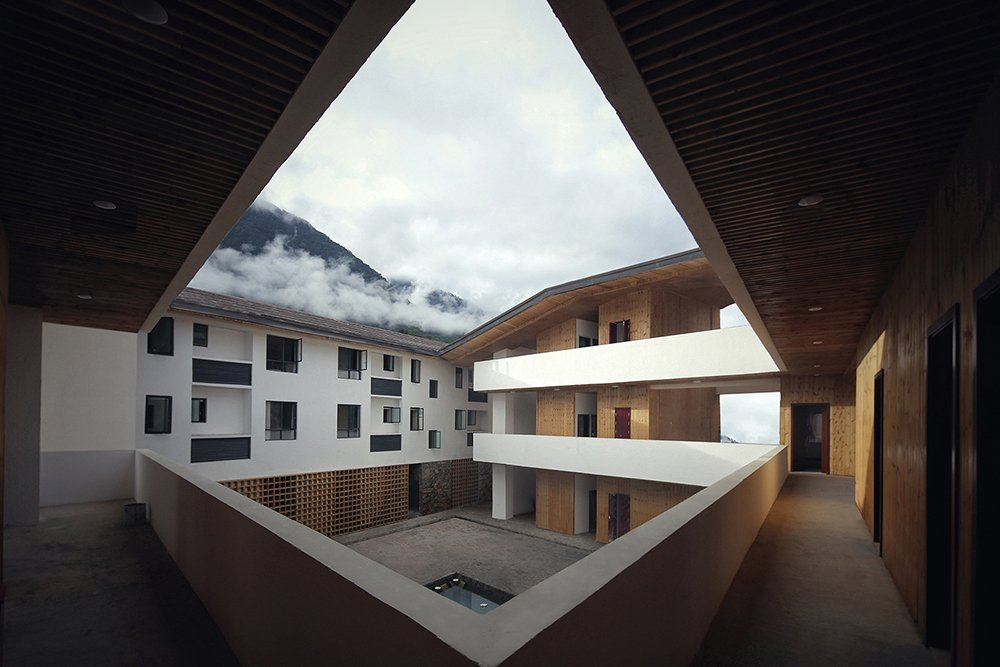 The courtyard view of the center EID Architecture