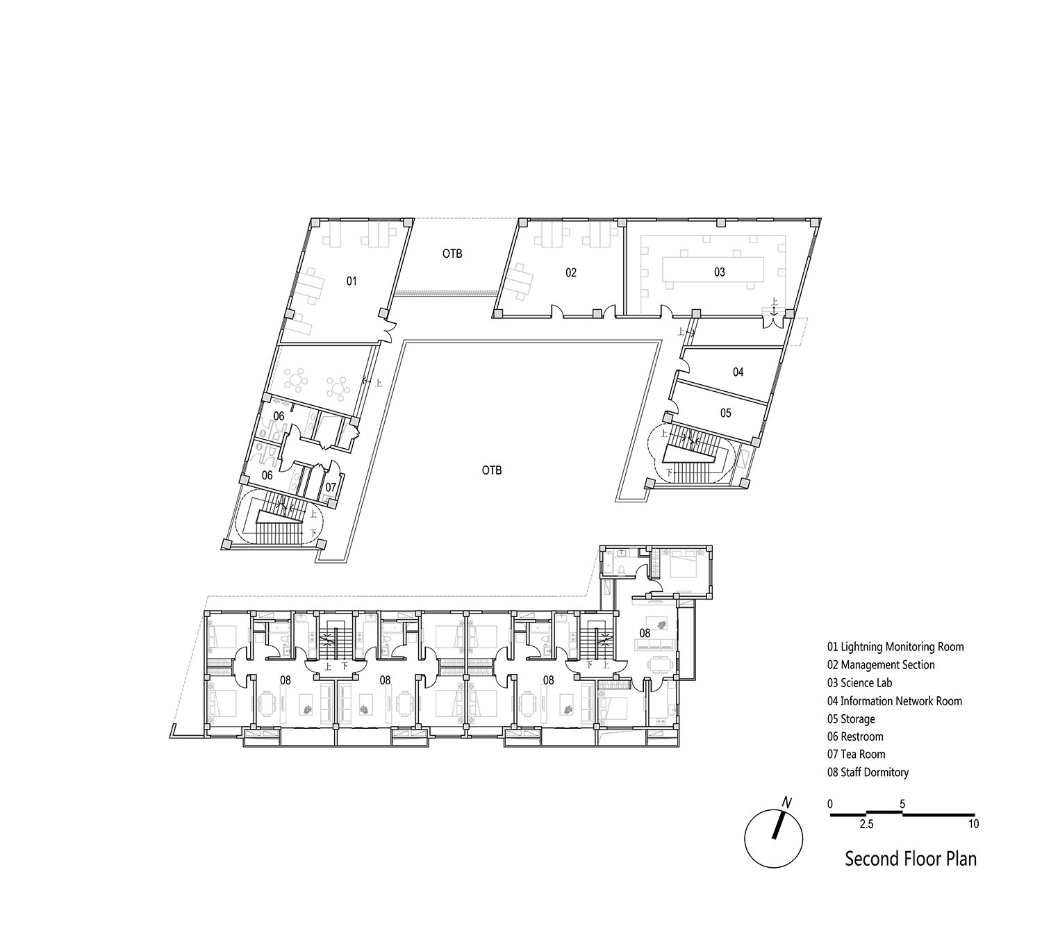 Second floor plan EID Architecture}