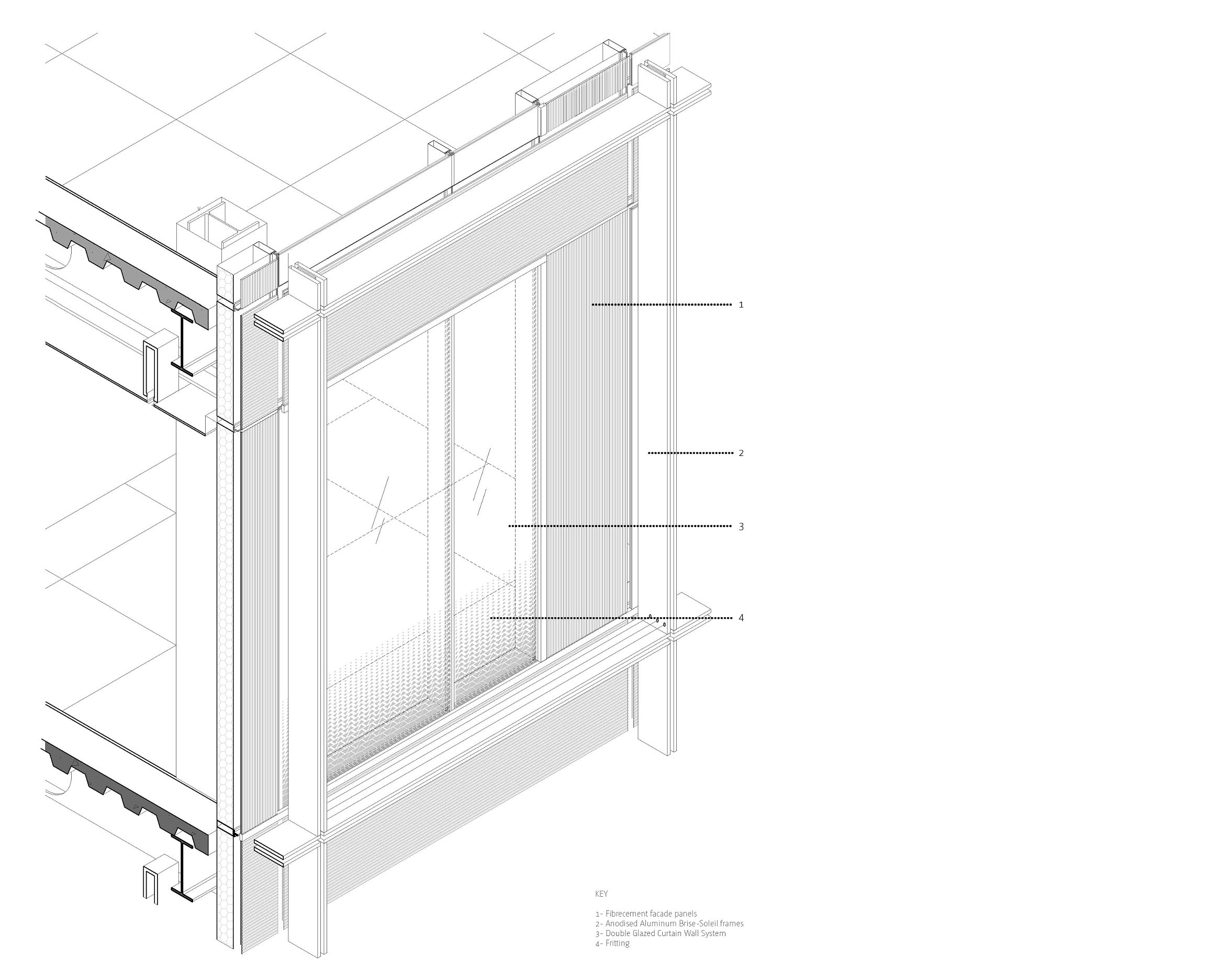 Axonometric drawing Bogle Architects}