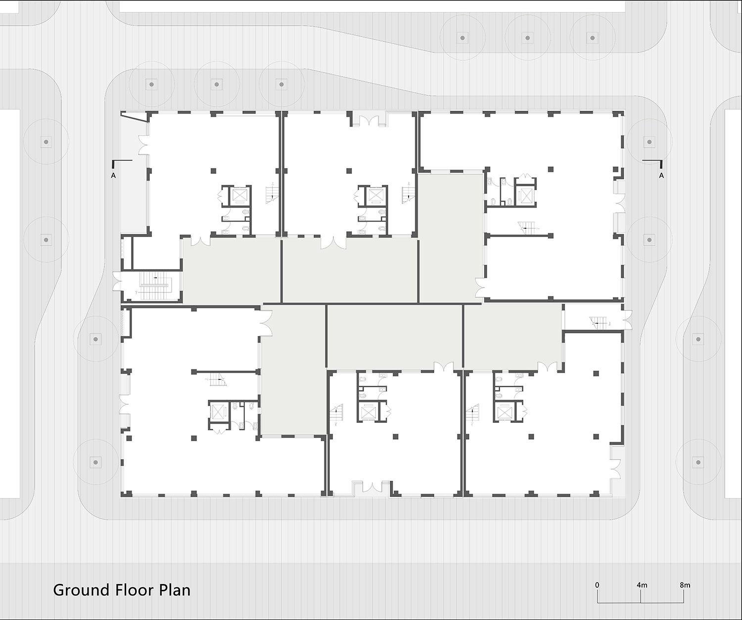 First Floor Plan of One Building WSP ARCHITECTS}