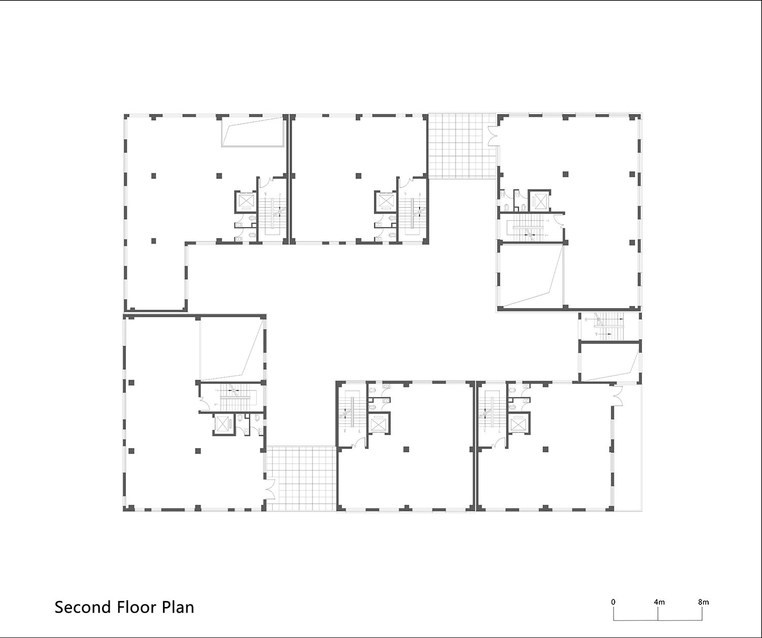 Second Floor Plan of One Building WSP ARCHITECTS}