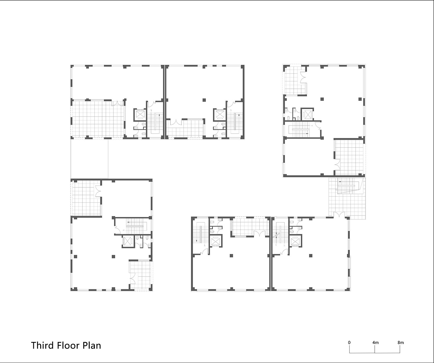 Third Floor Plan of One Building WSP ARCHITECTS}
