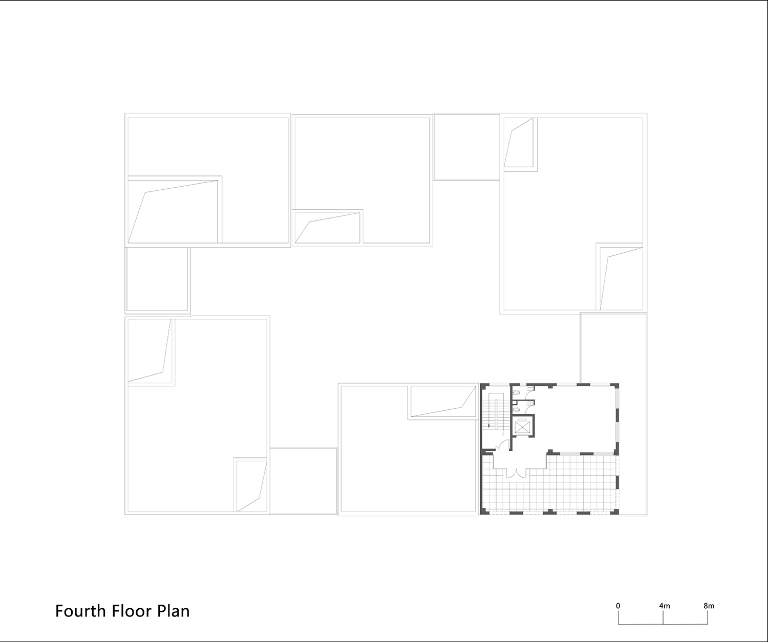 Fourth Floor Plan of One Building WSP ARCHITECTS}