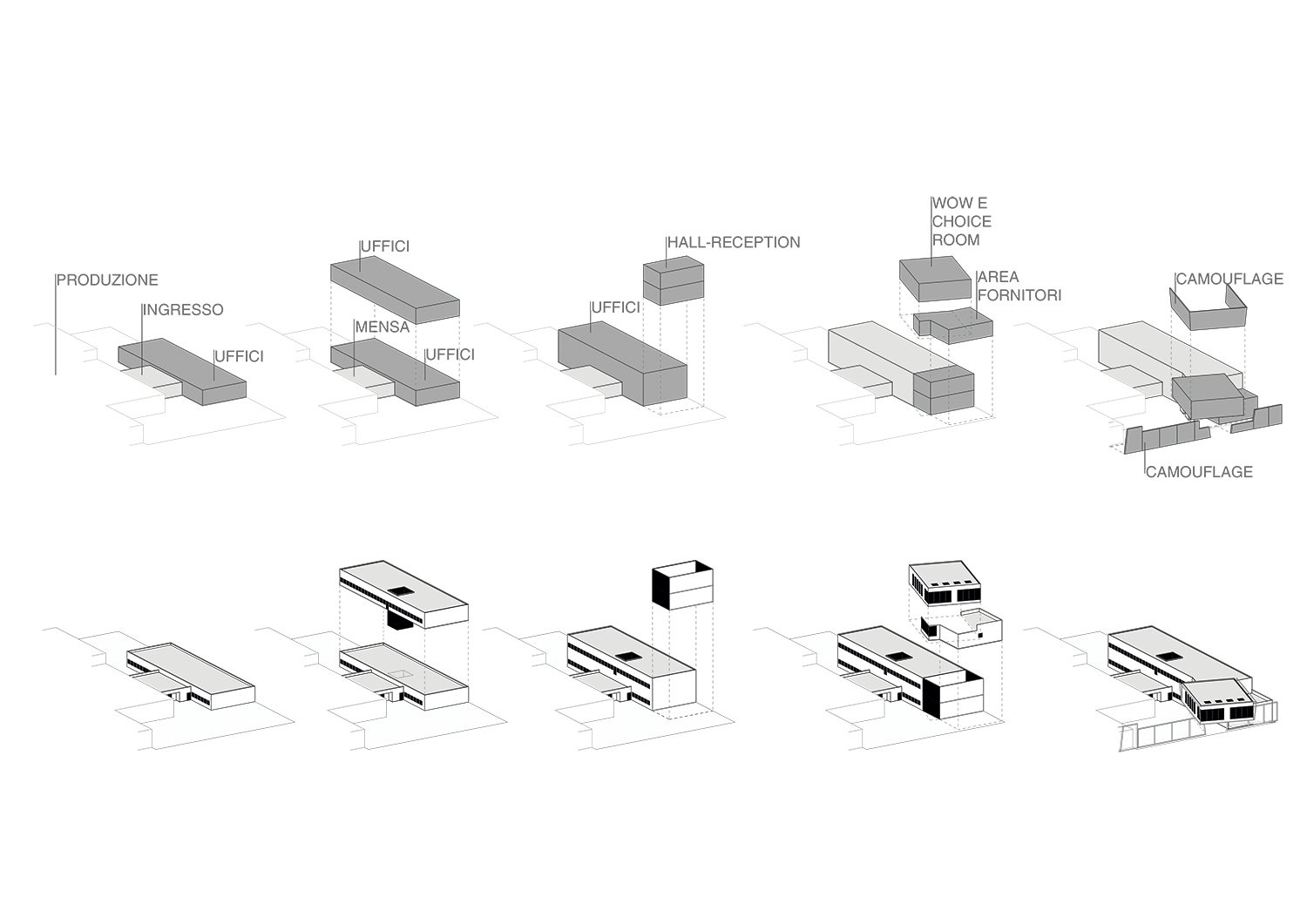 Schemi assonometrici Iarchitects}