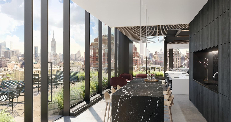 Indoor/outdoor connectivity CetraRuddy Architecture