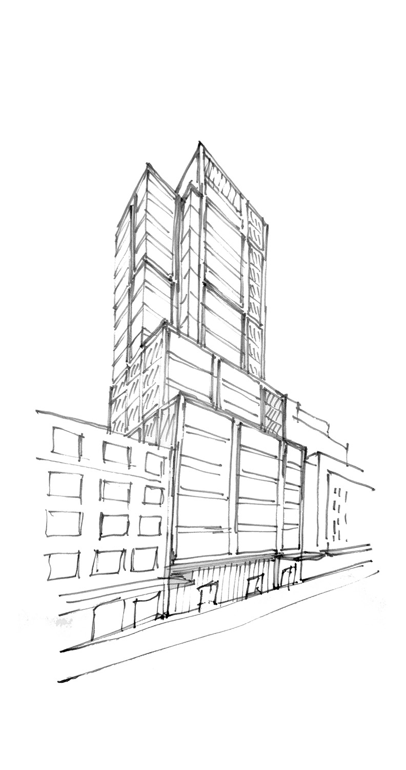 412 West 15th Street Sketch CetraRuddy Architecture}