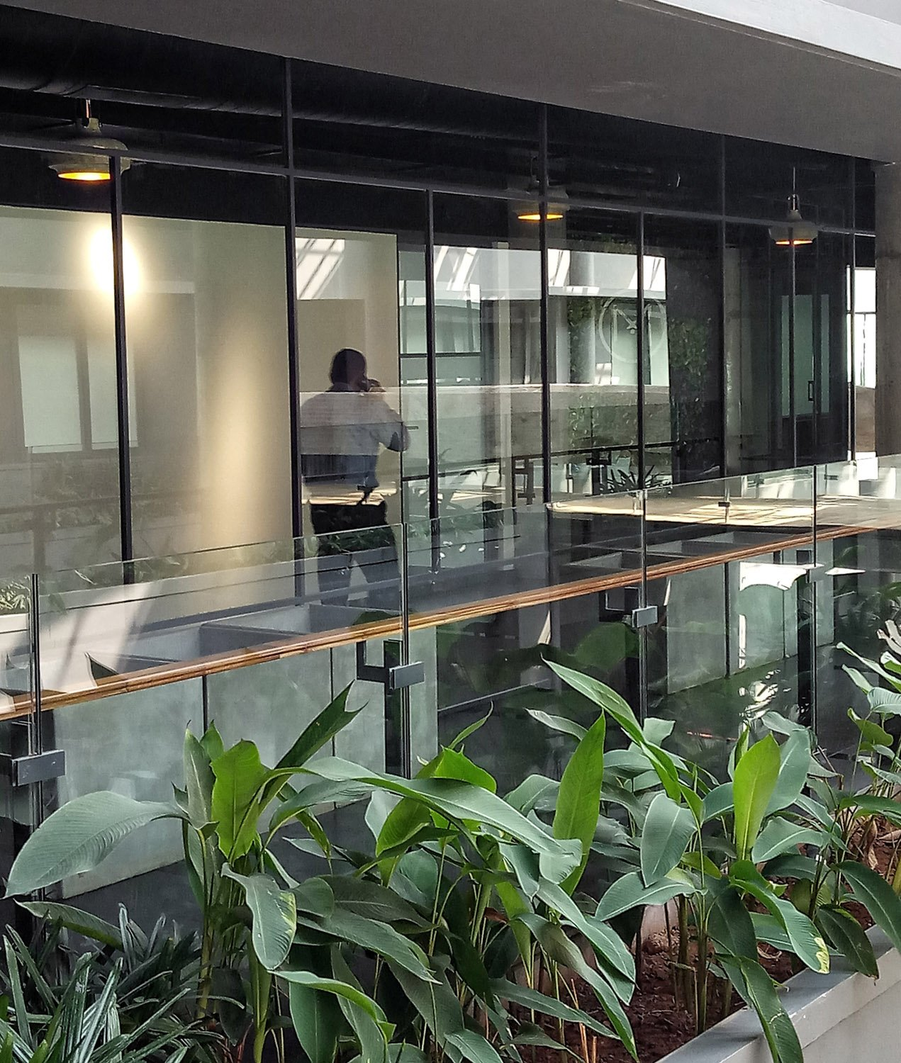 Interior spaces bring in the exteriors - View of 4th floor office space Ar. Sujith. G.S