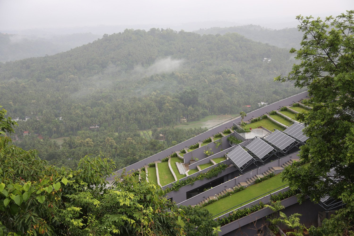 The Green Roof overlooking the wonderful views on the west. Ar. Sujith. G.S