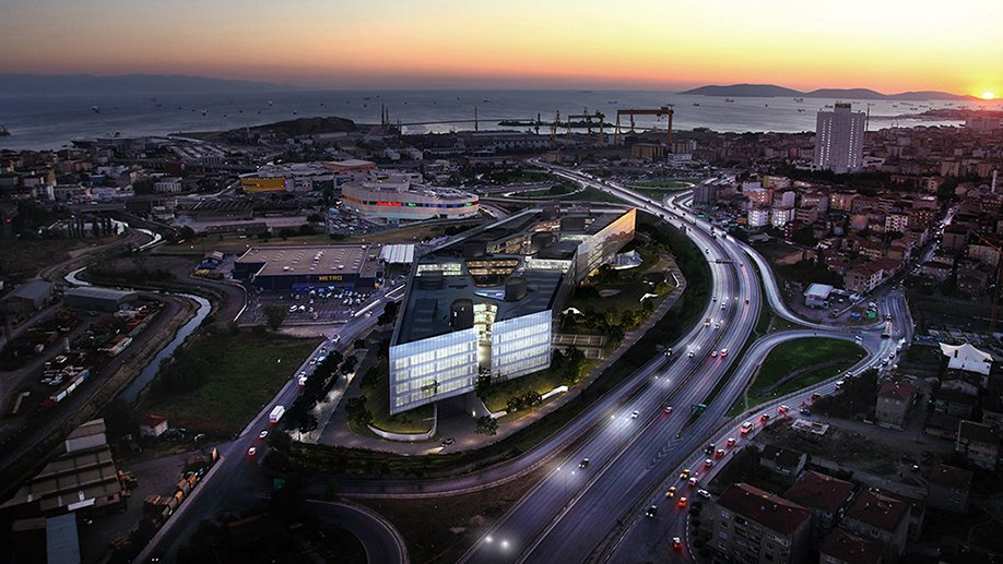 Aerial view render Squint Opera}
