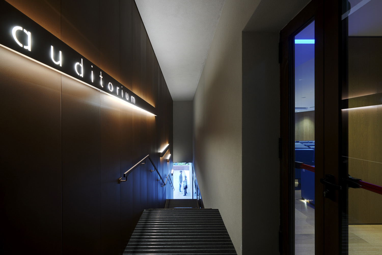La scala di accesso all'auditorium Jurgen Eheim