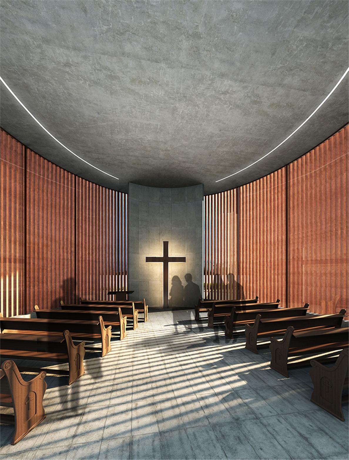 internal view chapel sanjay puri architects}