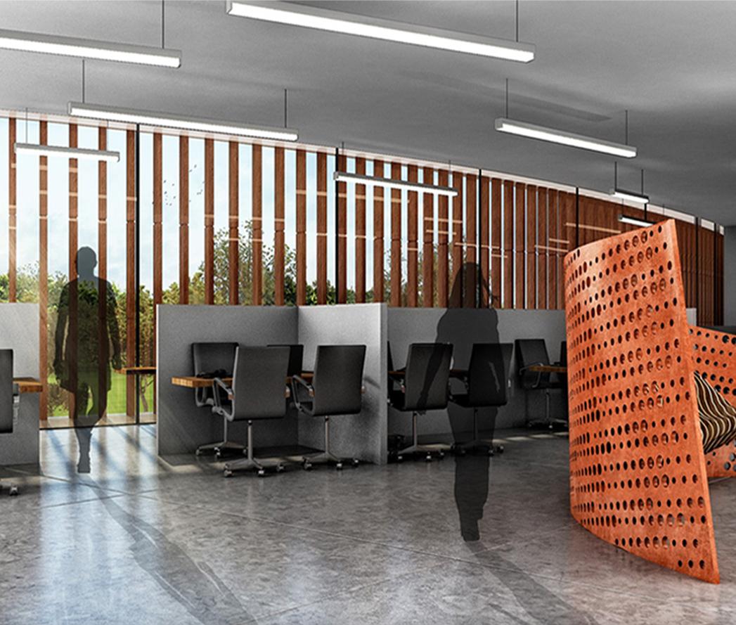 internal view of office sanjay puri architects