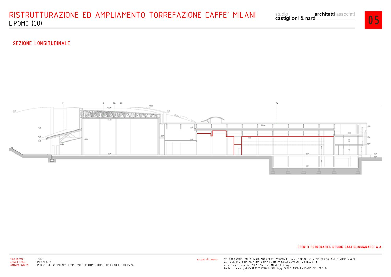 sezione longitudinale studio castiglioni & nardi architetti associati}
