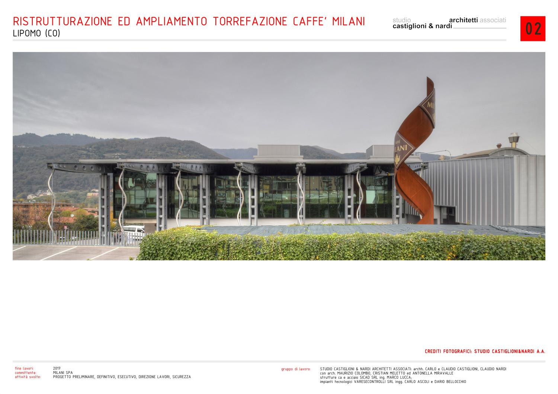 gli uffici e il totem con il logo visti dal fronte di ingresso studio castiglioni & nardi architetti associati