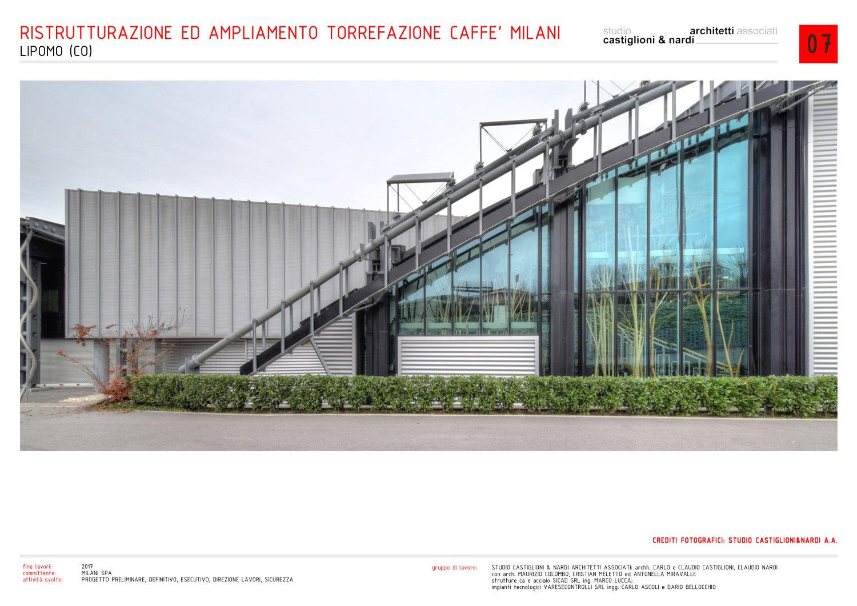vista laterale dell'ingresso alla serra/esposizione del caffè studio castiglioni & nardi architetti associati