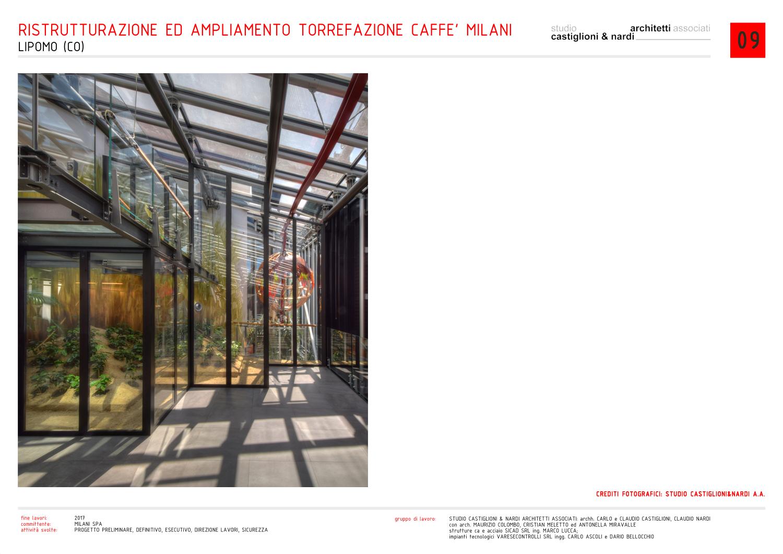 vista della serra/esposizione del caffè studio castiglioni & nardi architetti associati