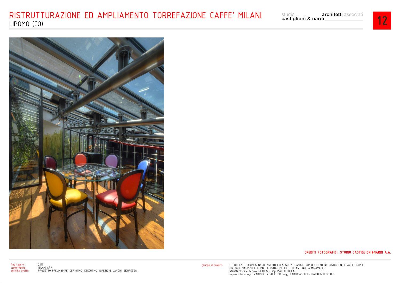 sala lettura nella serra/esposizione del caffè studio castiglioni & nardi architetti associati