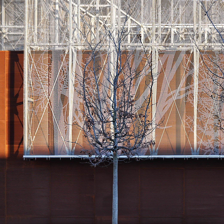 Contrapposizione dei materiali di facciata M. Amato
