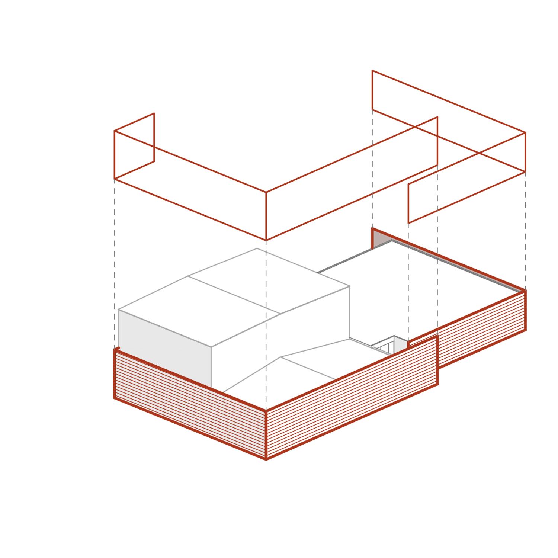 Schema compositivo 2 - facciata in cor-ten L. Giannini}